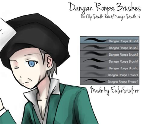 paint tool sai grayscale to color dangan ronpa brushes for csp ms5 by serketxxi on