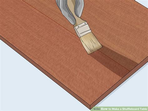 how to make a shuffleboard table how to make a shuffleboard table with pictures wikihow