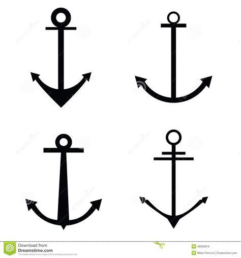 anchor four icon vector silhouette stock vector image