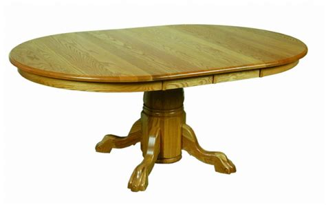 amish dining room tables amish pedestal dining room table