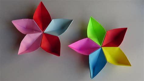 flor origami flor modular de papel origami