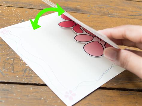 make a card from a photo how to make a pop up flower greeting card with pictures