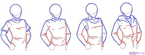 how to draw hoodies how to draw shirts step 3 jpg 1800 215 687 cloth and folds