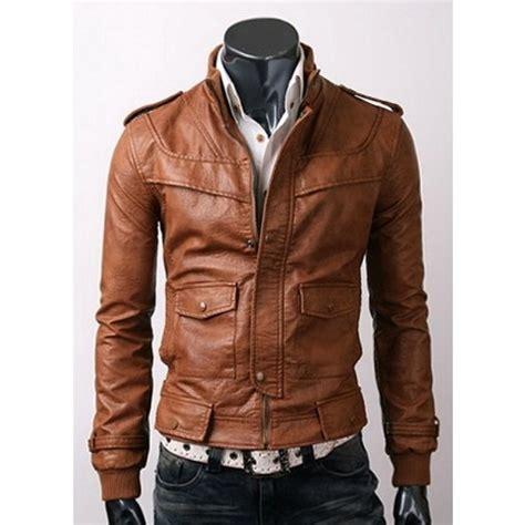 mens light brown leather jacket slim fit light brown leather jacket s jackets on luulla