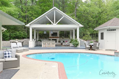 house plans with pools and outdoor kitchens outdoor kitchen and pool house project reveal