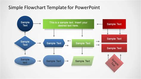 simple flowchart template for powerpoint slidemodel