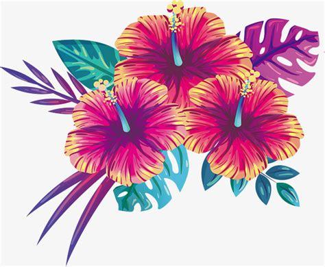 blooming summer flowers vector png beautiful flowers
