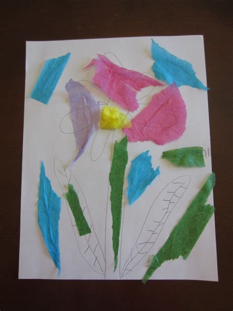 paper tearing craft tearing tissue paper a therapeutic craft for children