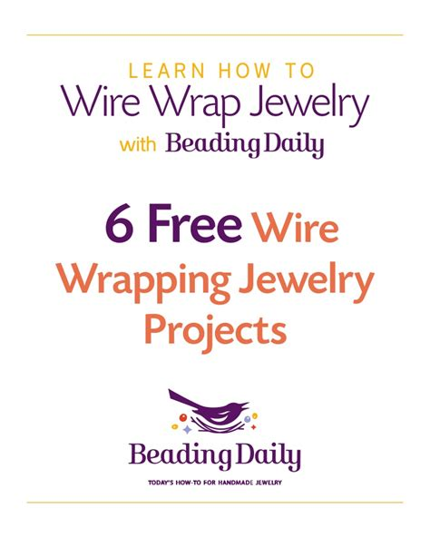 jewelry daily free projects beading daily wire wrapping
