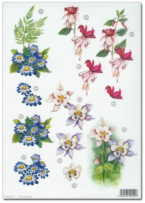 decoupage flowers die cut 3d decoupage a4 sheet floral designs 121 163 1