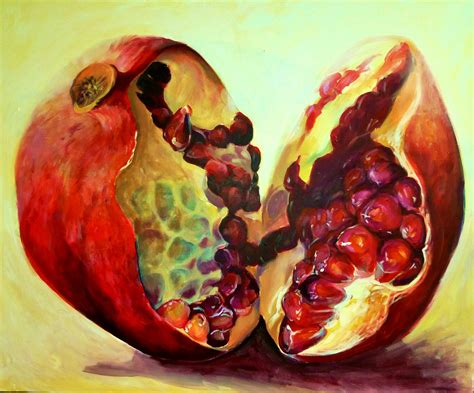 acrylic painting fruit saatchi come sold painting by kamille saabre