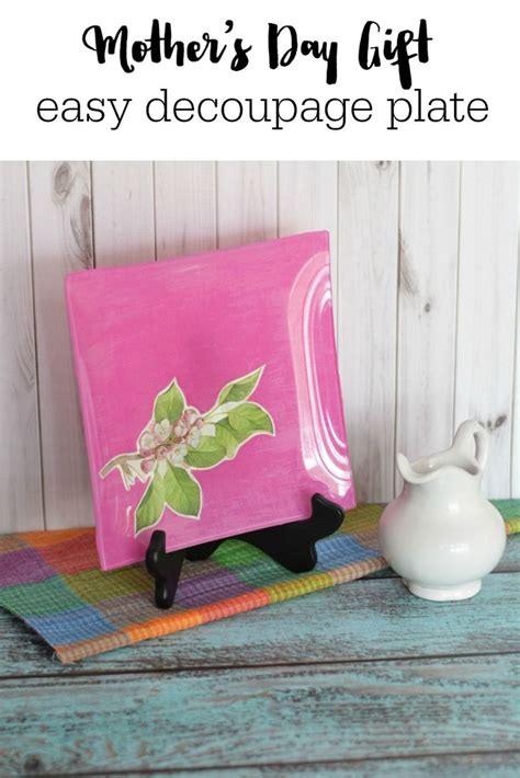 easy decoupage s day gift idea easy decoupage plate best of