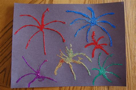fireworks craft for 4th of july glitter fireworks picture craft 1 preschool