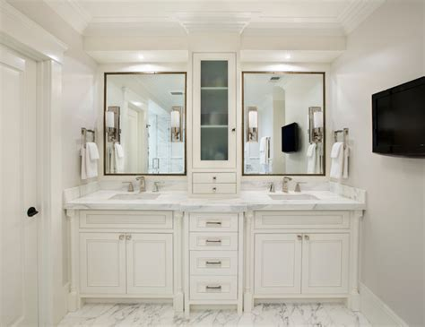 white mediterranean bathroom design interior applied white bathroom vanity cabinets and marble