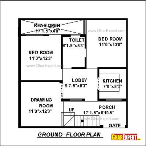 50 sq yard home design house plan for 30 by 30 plot plot size 100