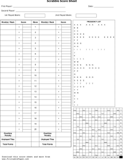 printable scrabble score sheet printable scrabble score sheet