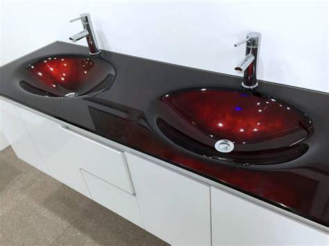 glass bathroom vanity top bathroom vanity unit glass top cabinet set 1500mm