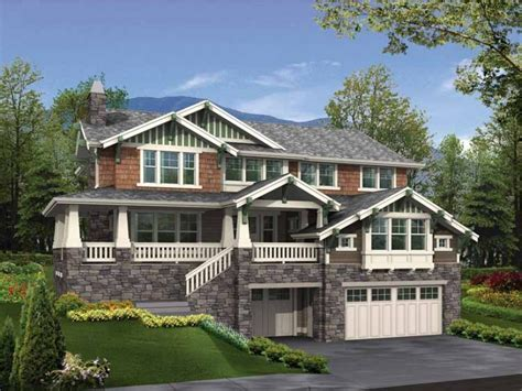 hillside home plans houses with walkout basement modern diy designs