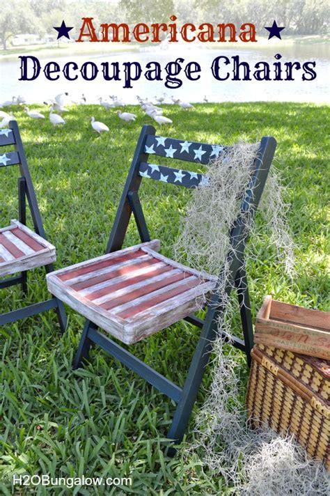 decoupage for outdoors hometalk decoupage americana patio chairs