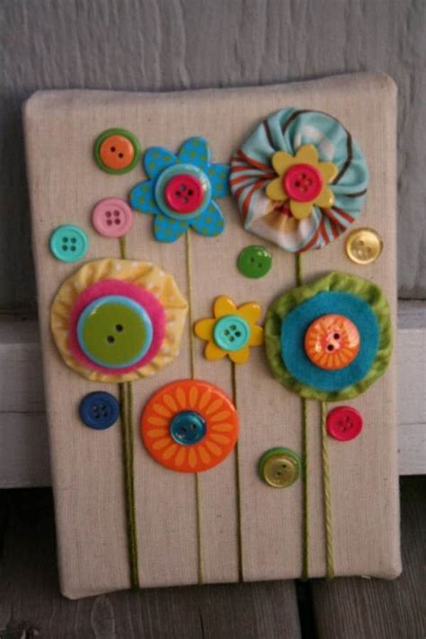 unique craft ideas for creative diy craft decorating ideas using colorful buttons