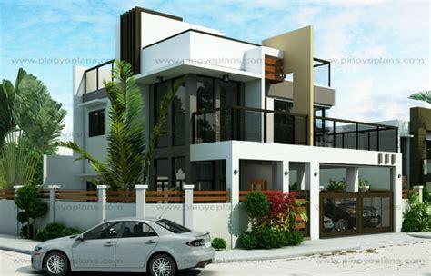 modern 2 story house plans ester four bedroom two story modern house design