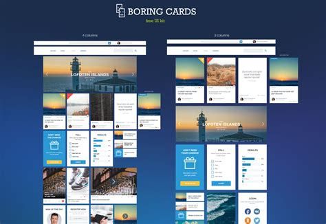 card site the best free ui kits february 2015 webdesigner depot