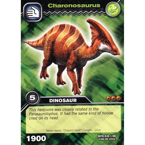 how to make dinosaur king cards deck dinosaur king card dktb 030 charonosaurus common