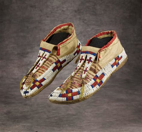 beaded moccasins and sioux beaded and quilled moccasins