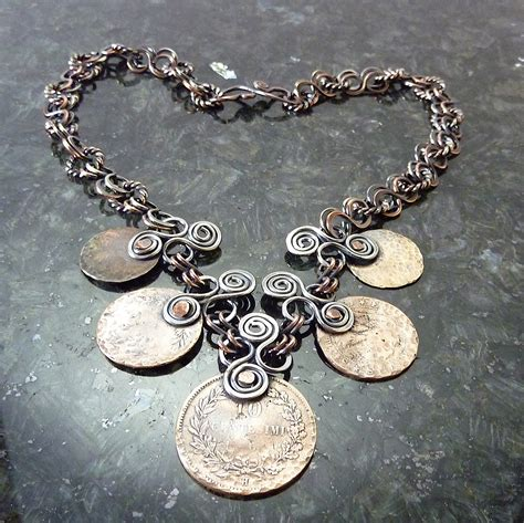 how to make coin jewelry ethnic coin necklace