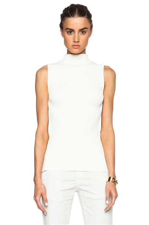 sleeveless knit top mcqueen sleeveless knit top in white lyst