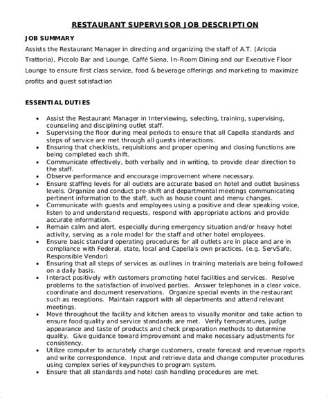 Resume For Dining Room Manager Dining Room Manager Description Peenmedia
