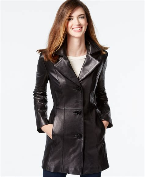 leather sleeve blazer klein leather blazer jacket in black lyst