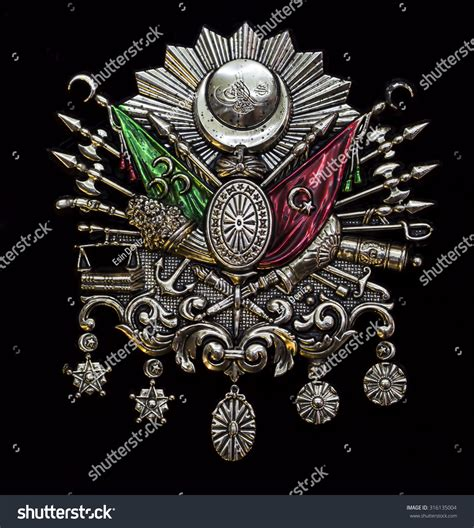 ottoman emblem ottoman coat of arms stock photo 316135004