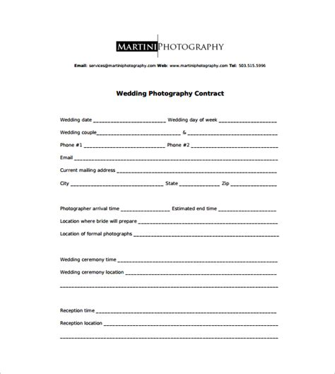 photography contract 9 download free documents in word pdf