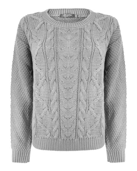 knit new cable knit jumper womens crochet and knit