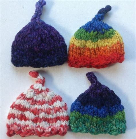 thick and thin yarn knitting patterns new acorn easy knit baby hat pattern thick and thin yarn 5