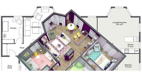 how to make a computer generated floor plan create professional interior design drawings