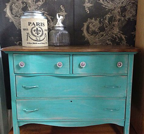 chalk paint turquoise chalk paint furniture turquoise blue vintage antique dresser