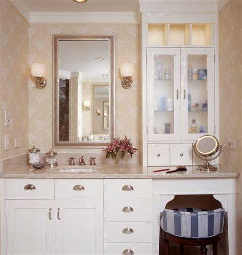 bathroom cabinets with makeup vanity pretty makeup vanitiesin bathroom traditional with
