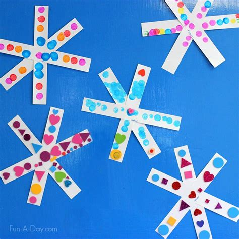 snowflake craft for simple snowflake craft for preschoolers