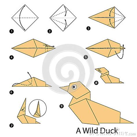 how to make duck origami step by step how to make origami a duck