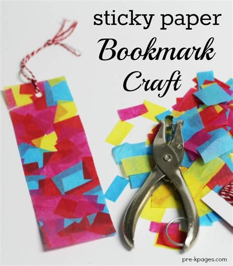 contact paper craft s day gifts with sticky paper bookmarks