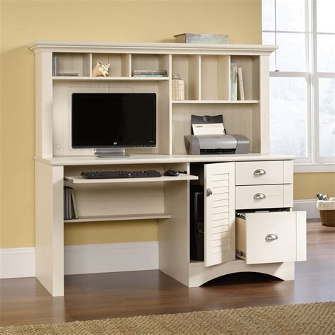 computer desk with hutch harbor view computer desk with hutch 158034 sauder