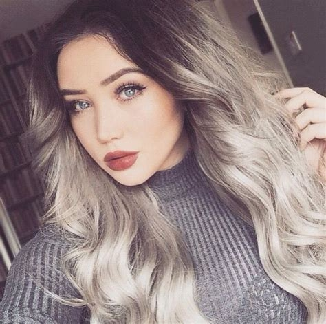 high lighted hair with gray roots grow out gray roots dark hair diy highlights dark brown