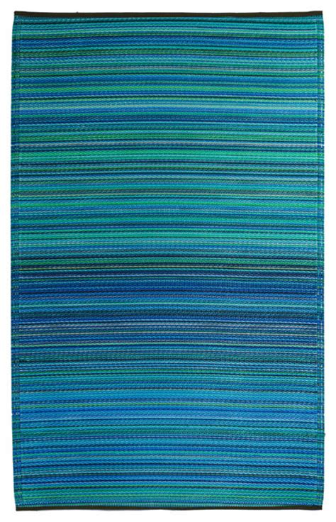 blue and green outdoor rug fab habitat cancun indoor outdoor rug in turquoise blue