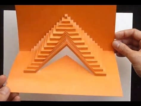 how to make a fractal card 03 how to build stairs pop up card tutorial