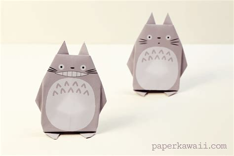 kawaii origami origami totoro tutorial free printable paper paper kawaii