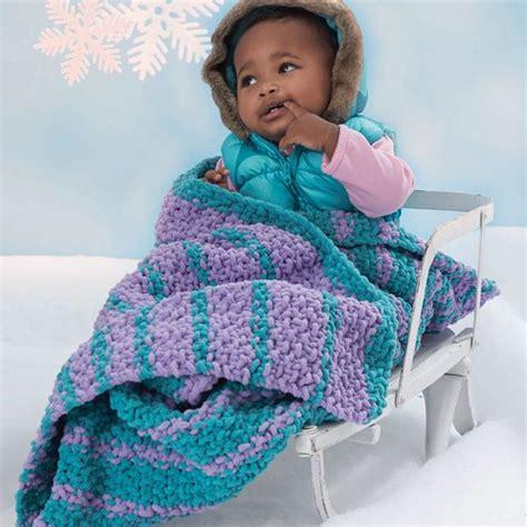 bernat baby knitting patterns bernat 174 baby blanket and pipsqueak cascading stripes
