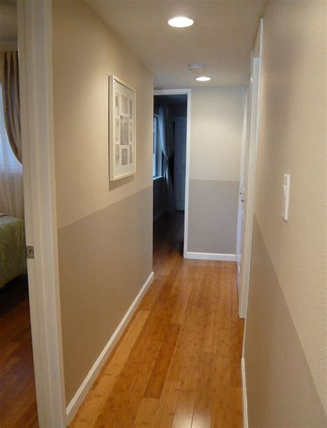 paint colors for narrow hallway two tone hallway olympic paint colors gray beige and