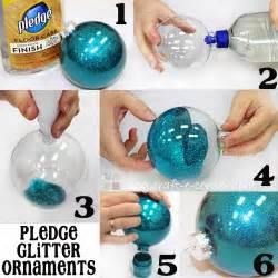 how to make photo ornaments easy 6 step pledge glitter ornaments craft e corner